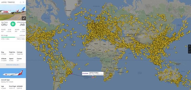 Radar lotów samolotów pasażerskich na żywo. Radar lotniczy i mapa radarowa flightradar24. Skaner lotów online.