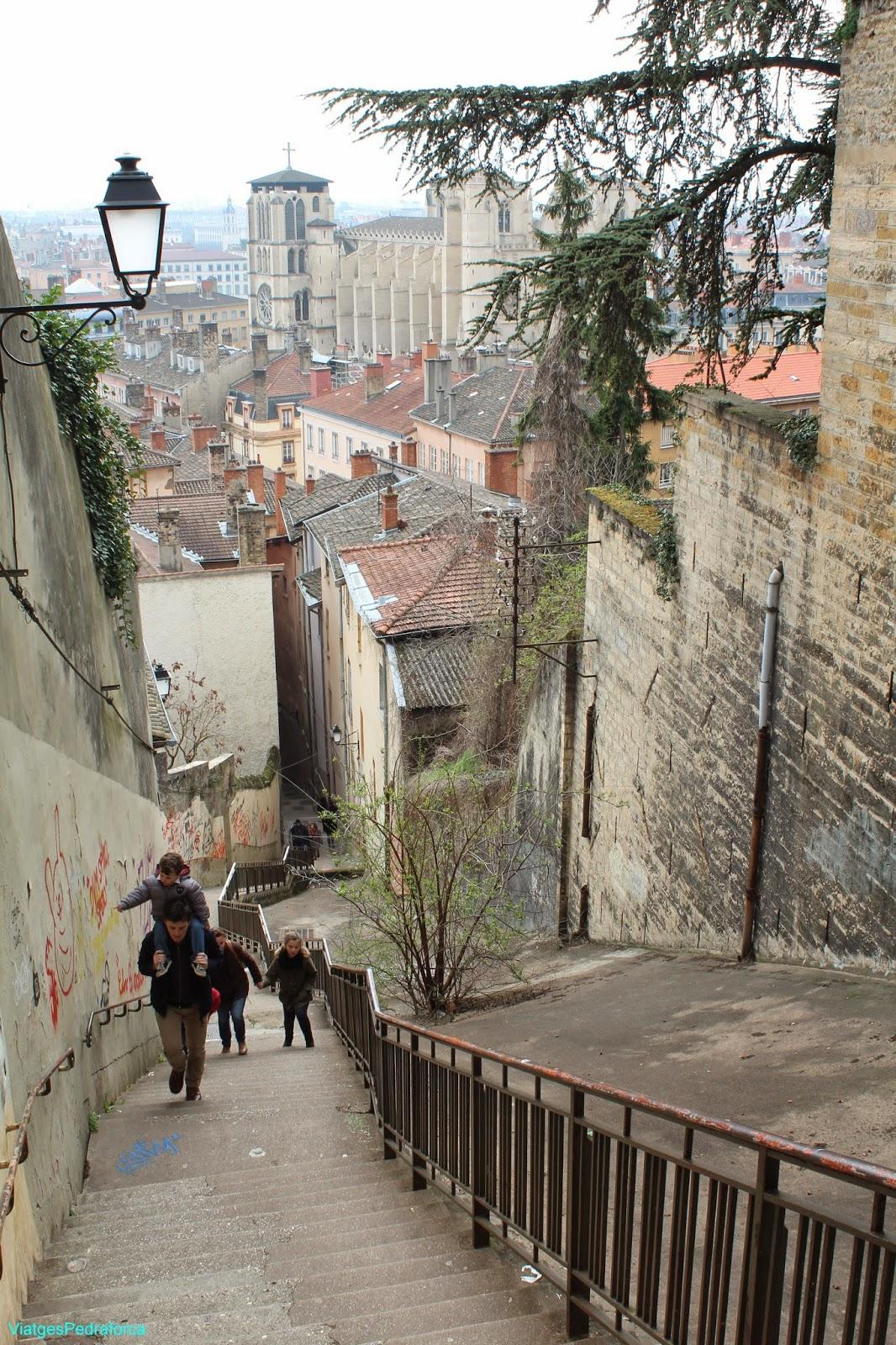 Vieux Lyon, Catedral gotica Saint Jean Baptiste, Lió, Rhône-Alpes, França, France, Unesco World Heritatge, Patrimoni de la Humanitat