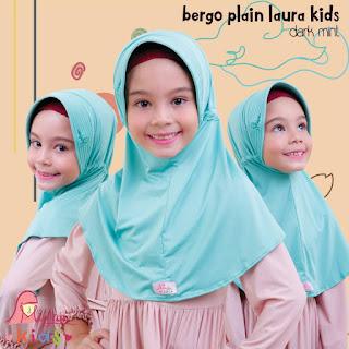 jilbab anak miulan bpl kids dark mint