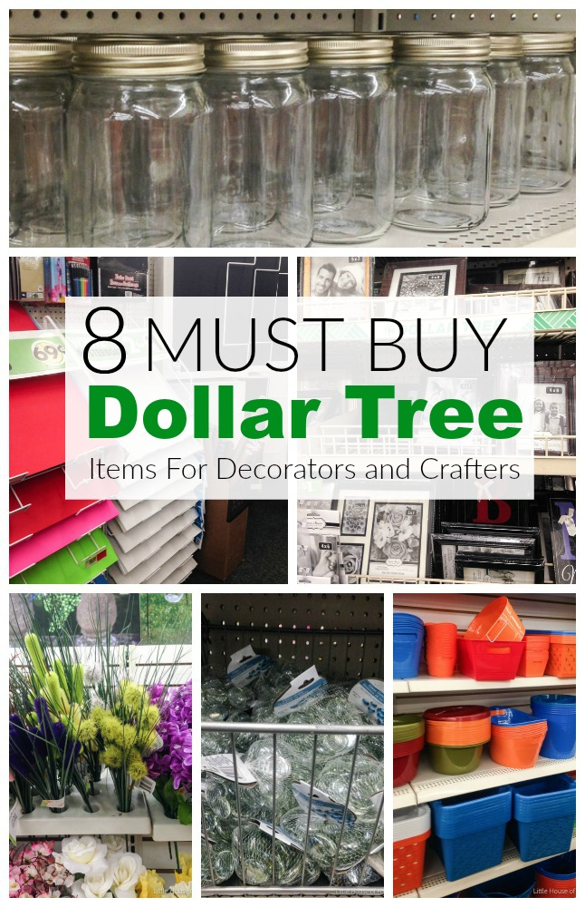 MUST BUY Dollar Store items for Decorators and Crafters- www.littlehouseoffour.com