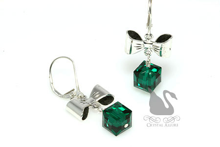 All Wrapped Up Crystal Bow Beaded Earrings (EC289)
