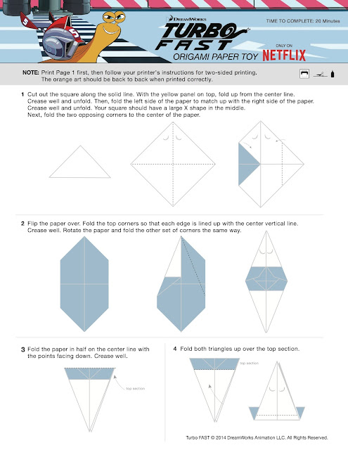 Turbo FAST Origami Paper Toy
