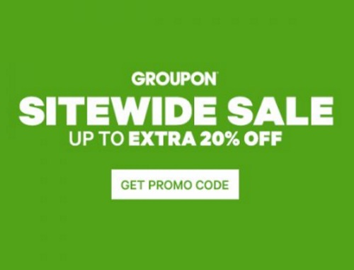 Groupon Up To 20% Off Sitewide Sale Promo Code