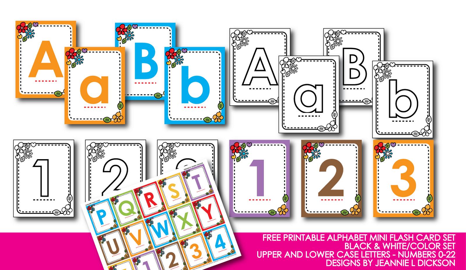 Honeybops Free Printable Alphabet Mini Flash Card Set