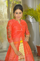 Simrat in Orange Anarkali Dress 11.JPG