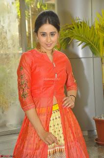 Simrat in Orange Anarkali Dress 11.JPG