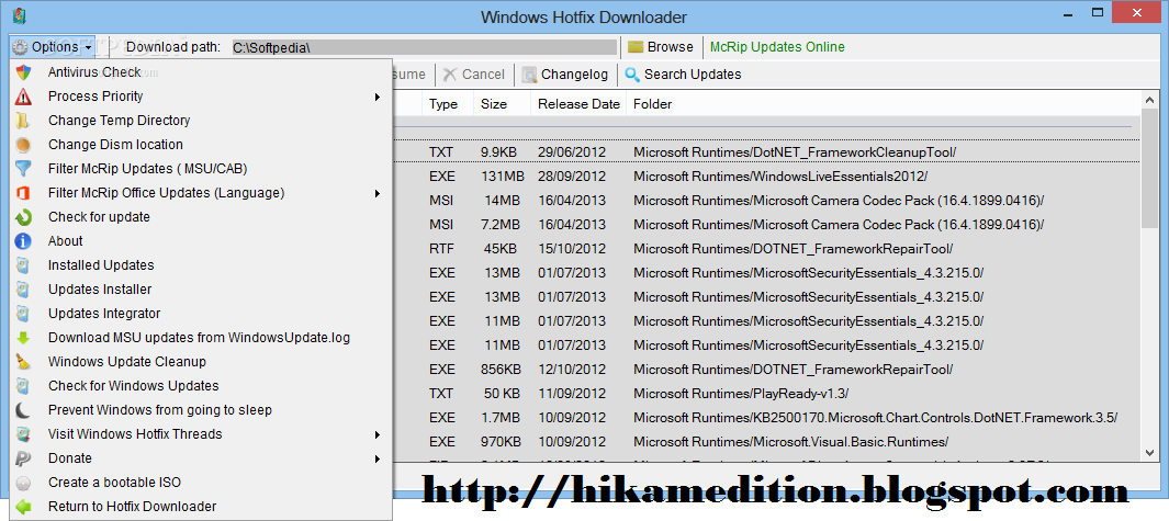 Windows Hotfix Downloader 4.9 full version