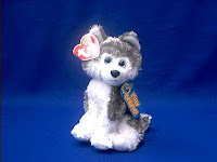 TY Beanie Baby Sledder Siberian Huksy Plush Stuffed Animal Toy