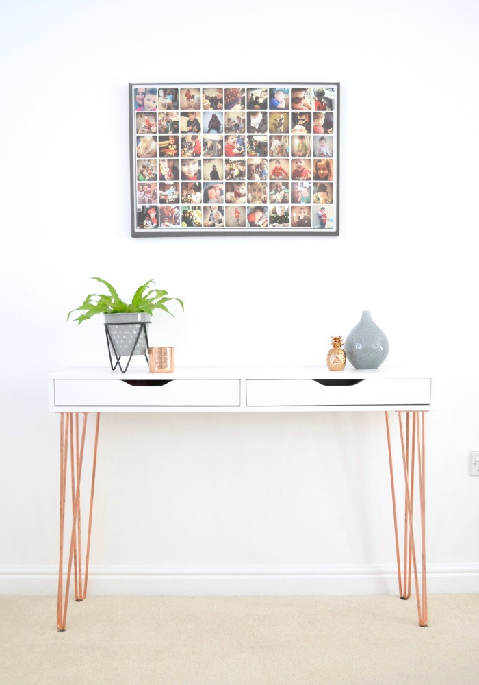 Superieur Ikea Ekby Alex Hairpin Console Table Hack