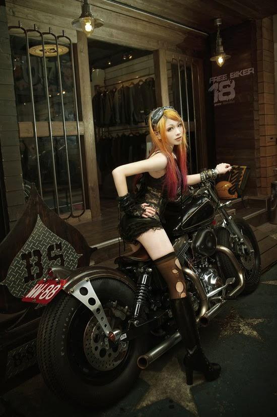 Wallpaper Emo Girl Style Mercenary Garage Steampunk Style