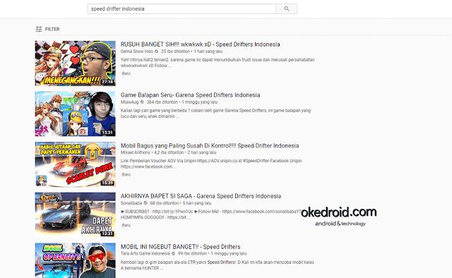 Beberapa daftar youtubers yang mainkan game ini garena speed driftters