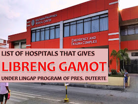 List of hospitals that give free medicines under Pres. Duterte's Lingap Program