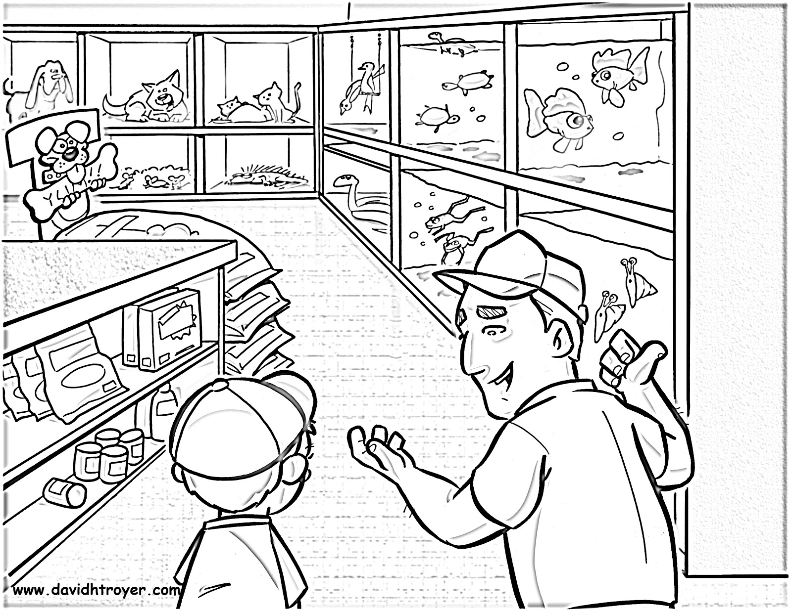 Shop free coloring pages for Shop coloring page