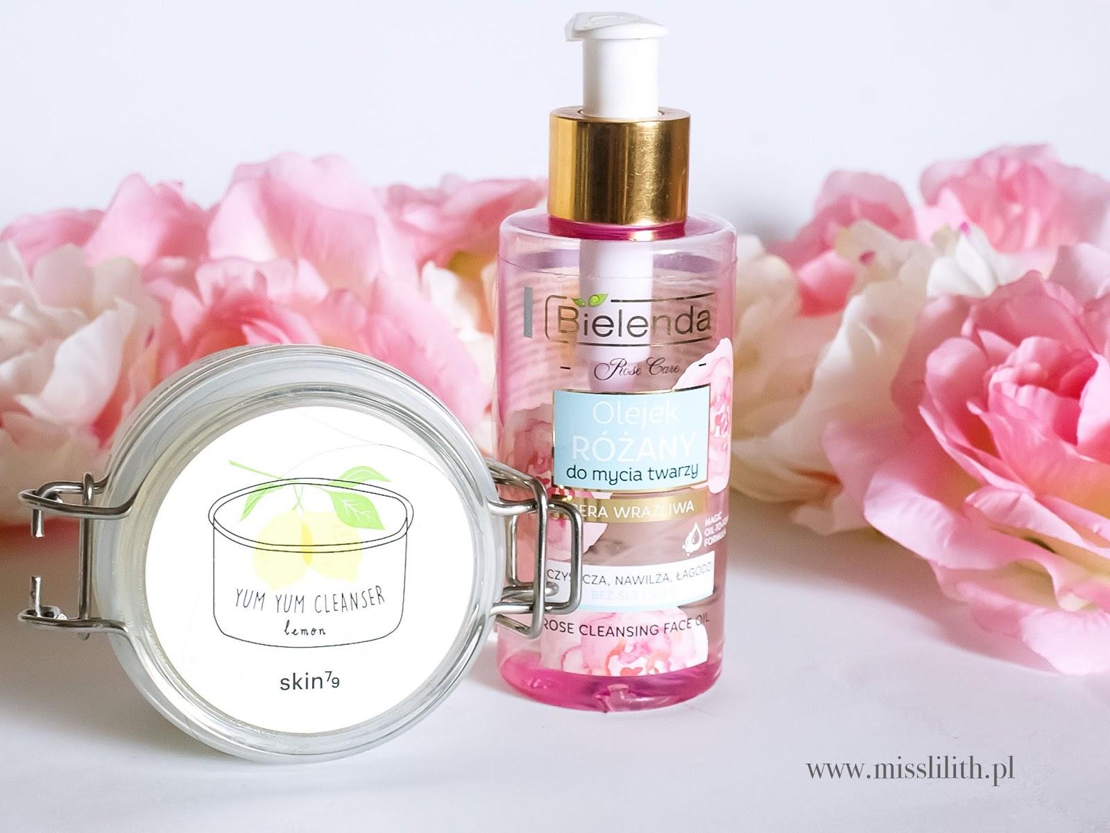 Olejek różany do mycia twarzy Bielenda. Yum Yum Clenser Lemon Skin79