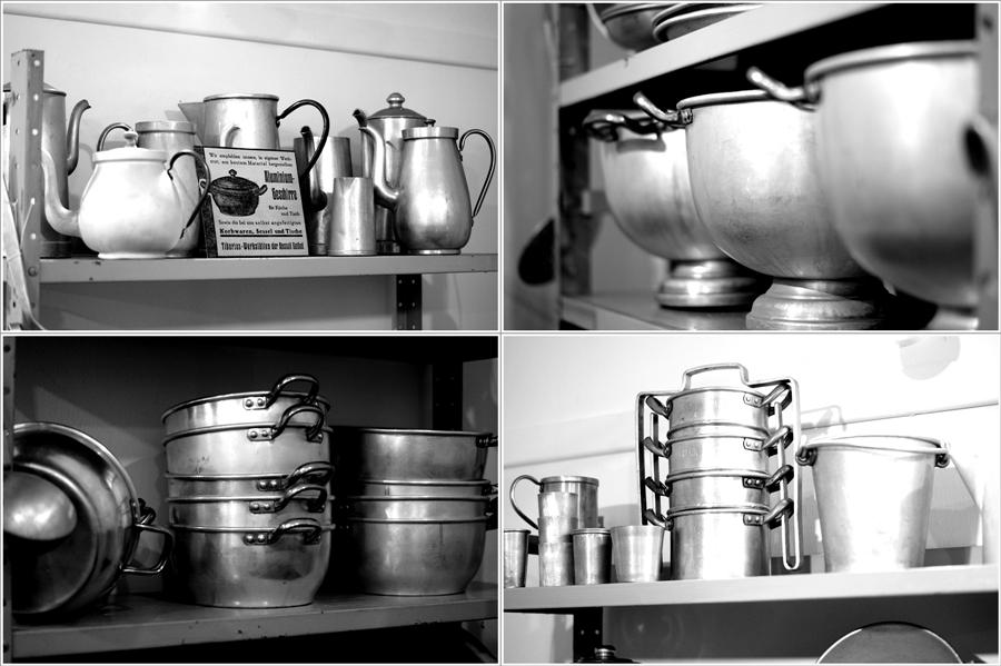 Blog + Fotografie | fim.works | Nachtansichten Bielefeld | Anstalt Bethel | Ausstellung BroSa | Collage altes Kochgeschirr aus Aluminium