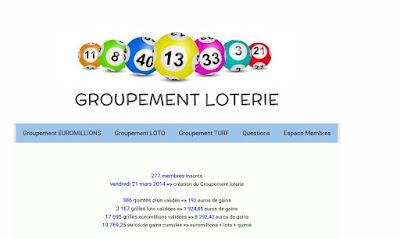 Groupement de joueurs jeux et loteries FDJ