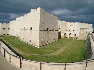 The Norman motte and bailey castle at Barletta