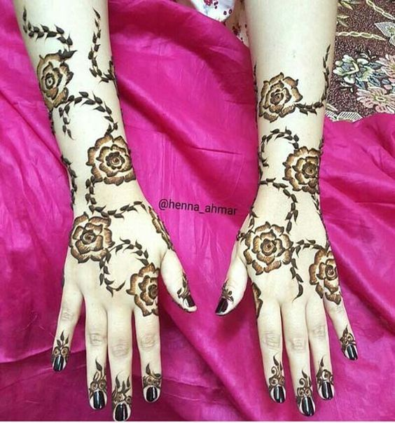 70 Latest Rose Mehndi Designs Of 2018 Simple Rose Mehndi Images