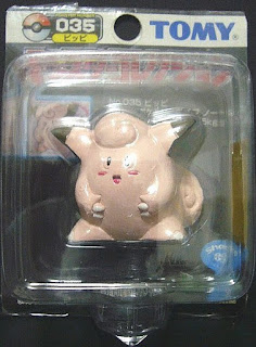 Clefairy Pokemon figure Tomy Monster Colllection black package series