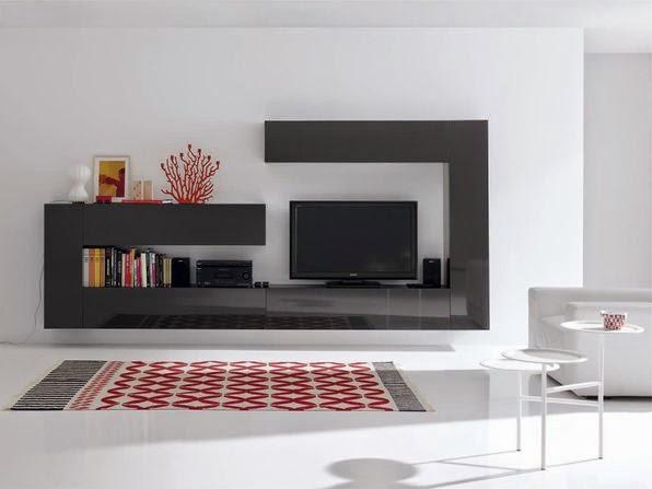 Muebles de salón modernos colgados o suspendidos