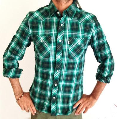 Ekoseli yeşil renk gömlek