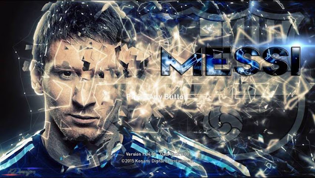 PES 2016 Lionel Messi Start Screen