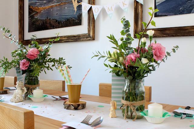 kwiaty, bukiety, eustoma, organizacja przyjęć, ozdabianie, dekorowanie przyjęć