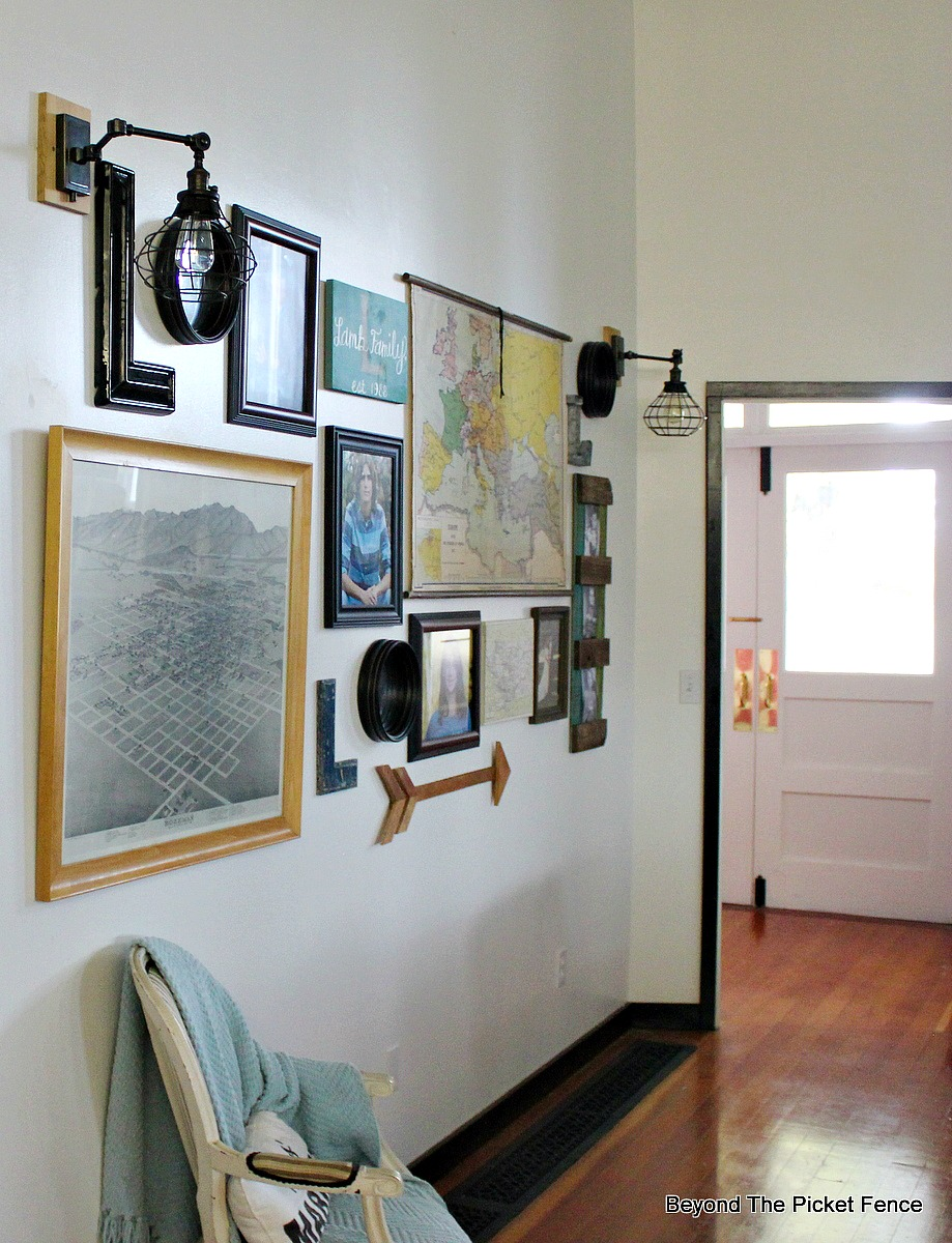 Gallery Wall With Awesome Light Sconces