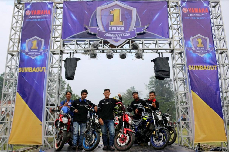 Meriahnya Event Jambore perayaan 1 Dekade Yamaha Vixion di Sumatera Utara