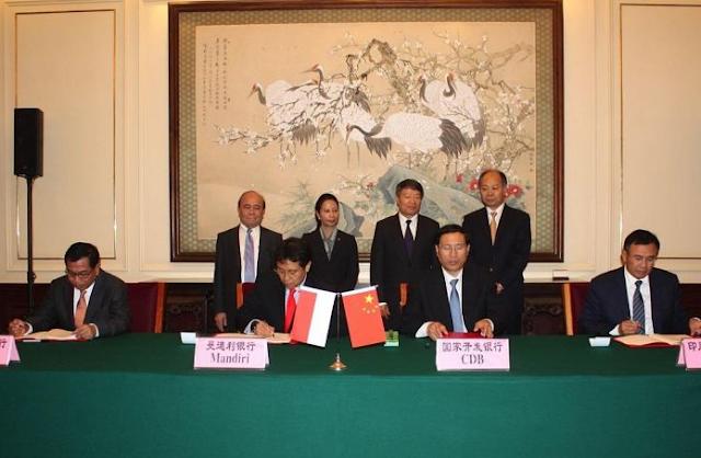 Hasil gambar untuk 3 bank di gadai ke china