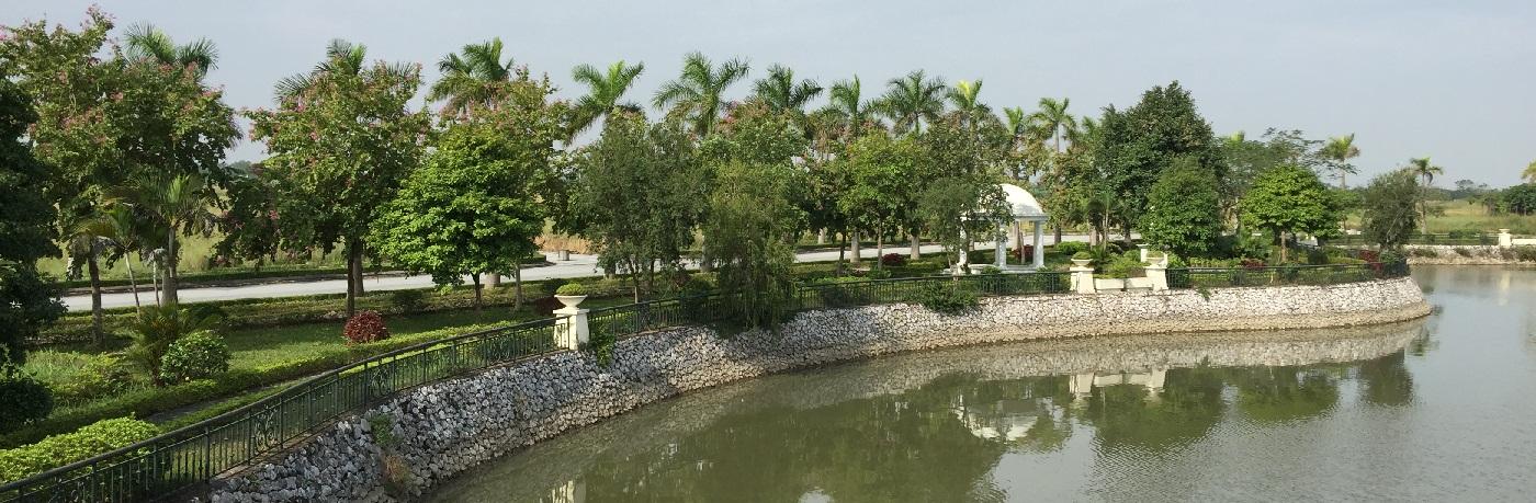 Mặt hồ biệt thự Vườn Cam