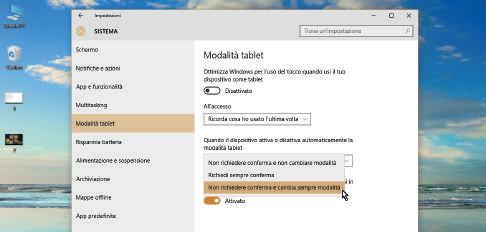 Continuum: novità in Windows 10 tablet
