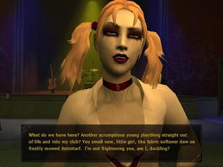 Bloodlines блондинка-вампир
