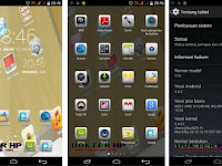 Cara Screenshot Tablet Advan T1R