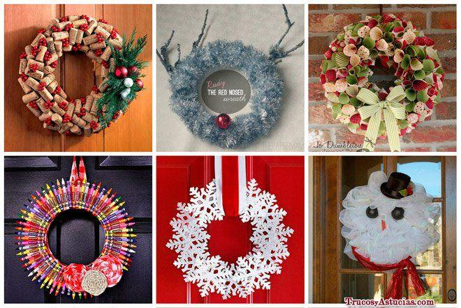 Corona De Navidad Decoradas Con Cuerda