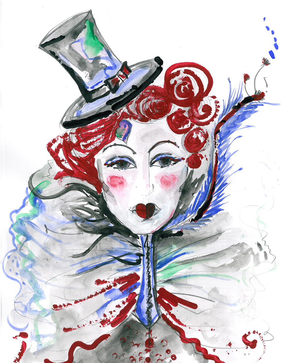 Burlesque Cabaret Fashion Ilustration
