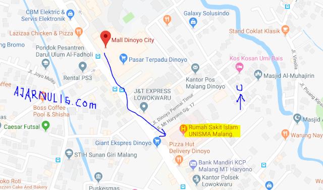 Titik Jemput Ojek Online Gojek-Grab di Mall Dinoyo Malang