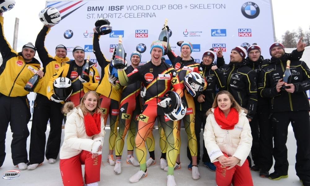 cab6d0c2b3 Alemanha domina a etapa de St.Moritz da Copa do Mundo de Bobsled 2018 2019