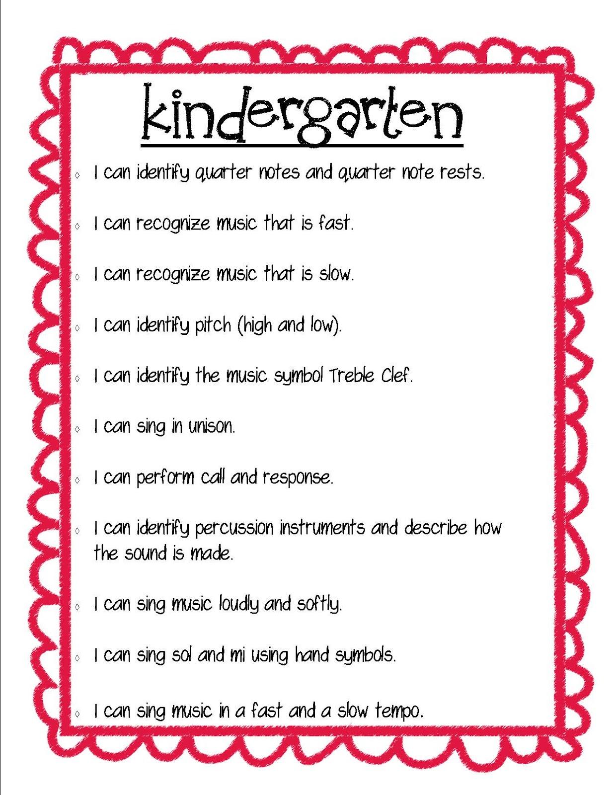 I+Can+Kindergarten - Goals For Kindergarten Teachers