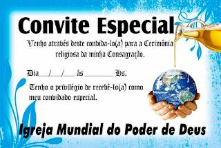 convite,consagração,impd,igreja,mundial,poder,deus,apóstolo,valdemiro,santiago