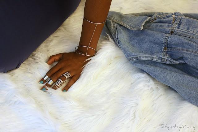 silver midi rings
