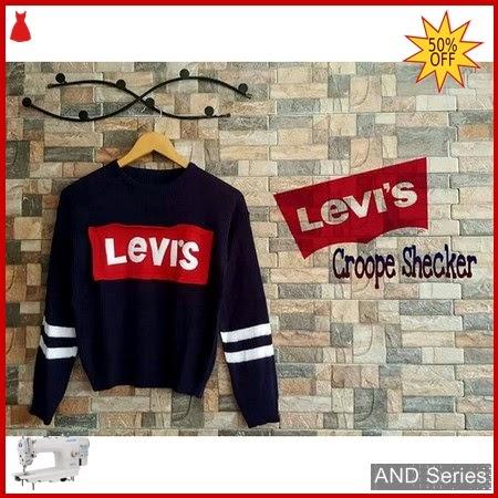 AND376 Baju Atasan Wanita Kaos Levis Crop BMGShop