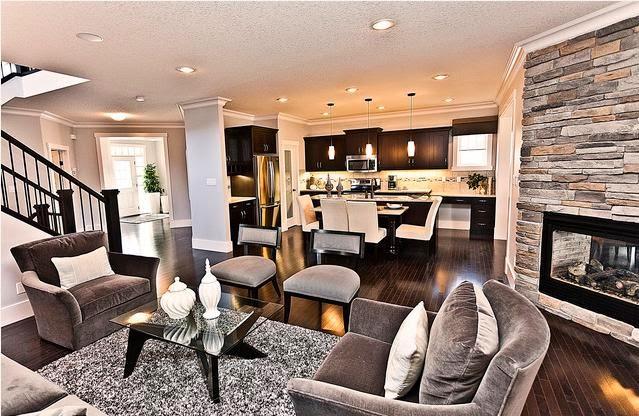 Sala y cocina en un ambiente colores en casa for Cocina y sala juntas