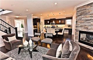 cocina y sala mismo ambiente