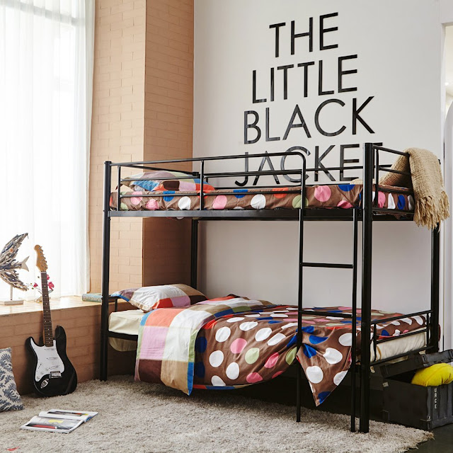 single metal bunk sleeper bed for kids room