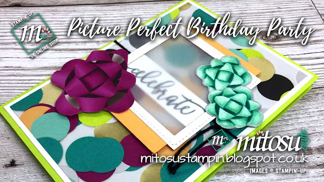 Stampin' Up! Picture Perfect Birthday Party Card Idea order from Mitosu Crafts UK Online Shop