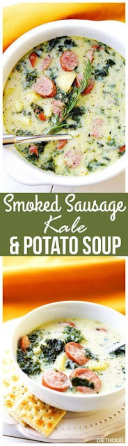 Smoked Sausage, Kale and Potato Soup