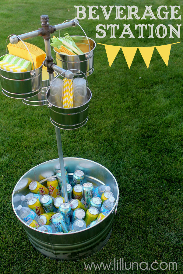 Wedding Talk Diy Outdoor Beverage Station