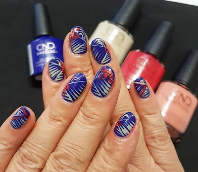 CND Wild Earth Nail Art with Blue Moon, Brimstone, Spear and Element
