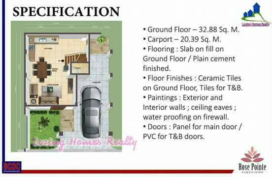 ROSE POINTE SUBDIVISION INSTALLMENT HOMES HOUSE AN DLOT SALE IN STA ROSA LAGUNA AFFORDABLE RENT TO OWN HOUSE SPECIFICATIONS